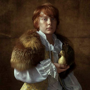 Boy with Duckling