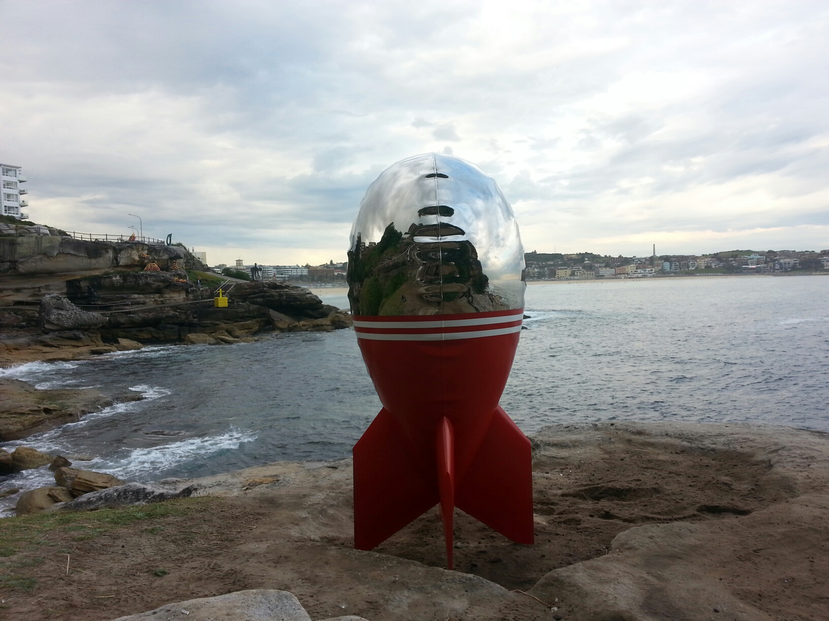 David McCracken's in the 19th Annual Sculpture by the Sea, Bondi, 2015.
