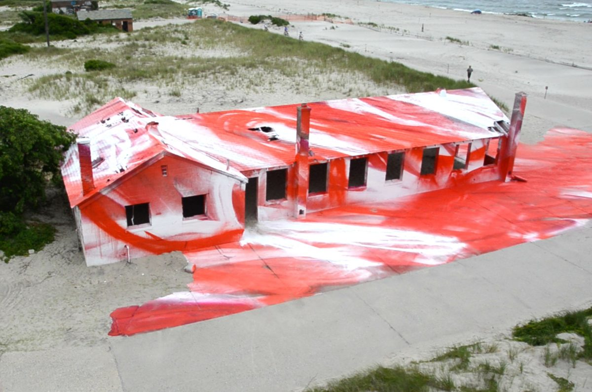 Katharina Grosse takes over Fort Tilden Beach
