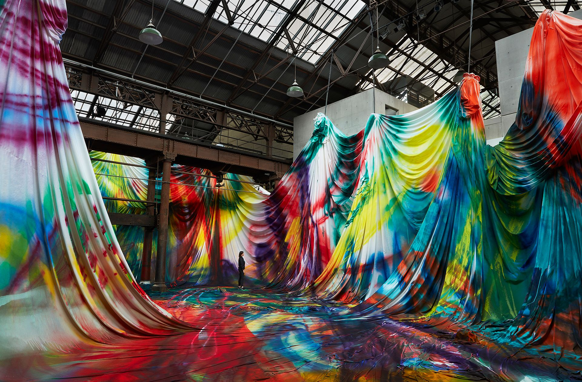Katharina Grosse at Carriageworks, Sydney