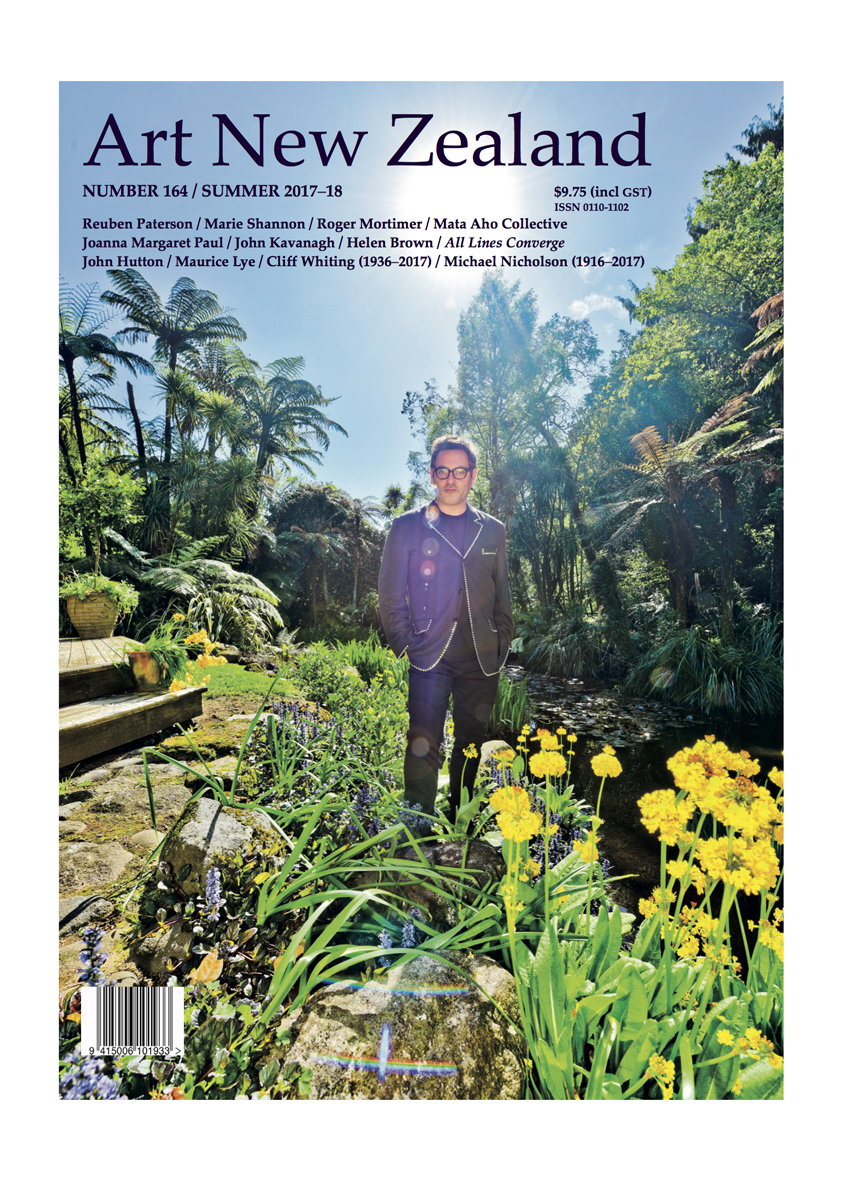 Reuben Paterson on the Cover of Art New Zealand