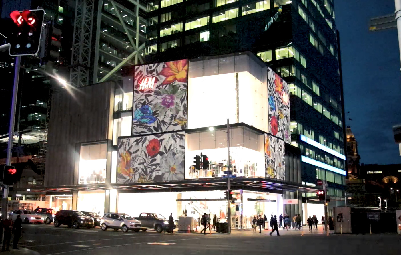 Reuben Paterson's animation for Auckland's new H&M flagship store