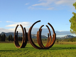 Bernar Venet works installed