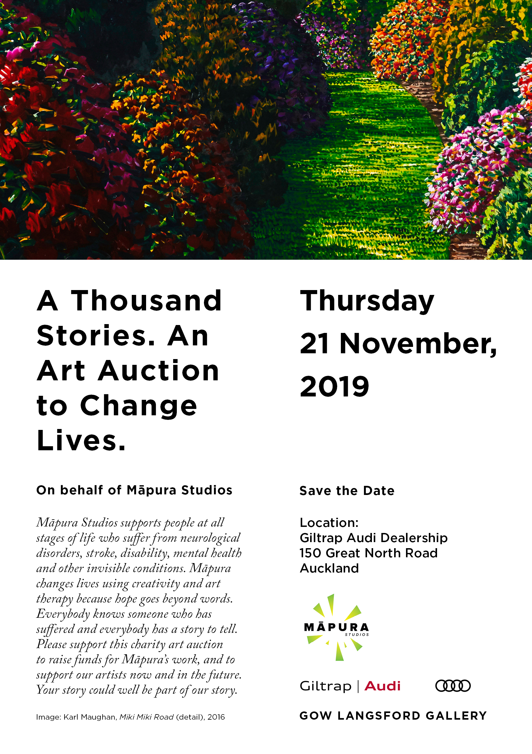 A Thousand Stories - An Art Auction to Change Lives for Mapura Studios
