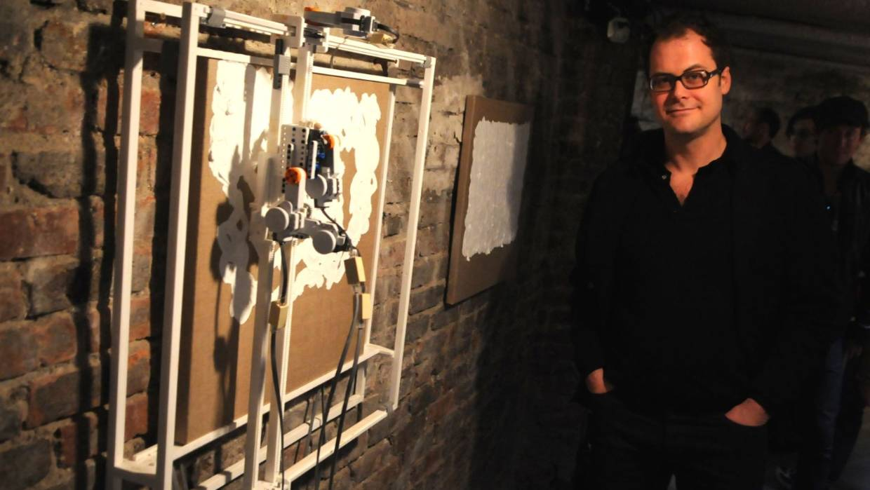Simon Ingram's Painting Machine Collaboration with Orchestra Wellington