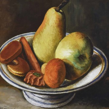 Picasso Fruit Bowl with Fruit