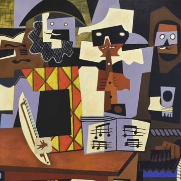 Picasso's Three Musicans